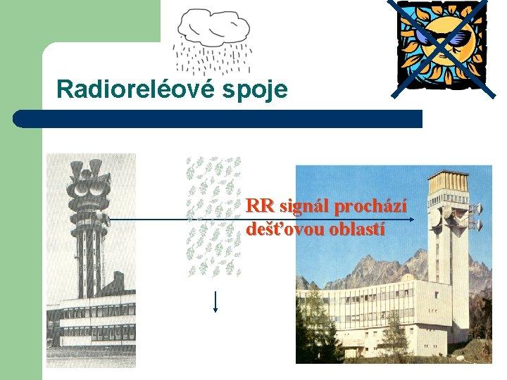 Radioreléové spoje RR signál prochází dešťovou oblastí
