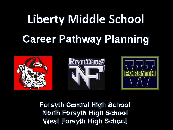 Liberty Middle School Career Pathway Planning Forsyth Central High School North Forsyth High School
