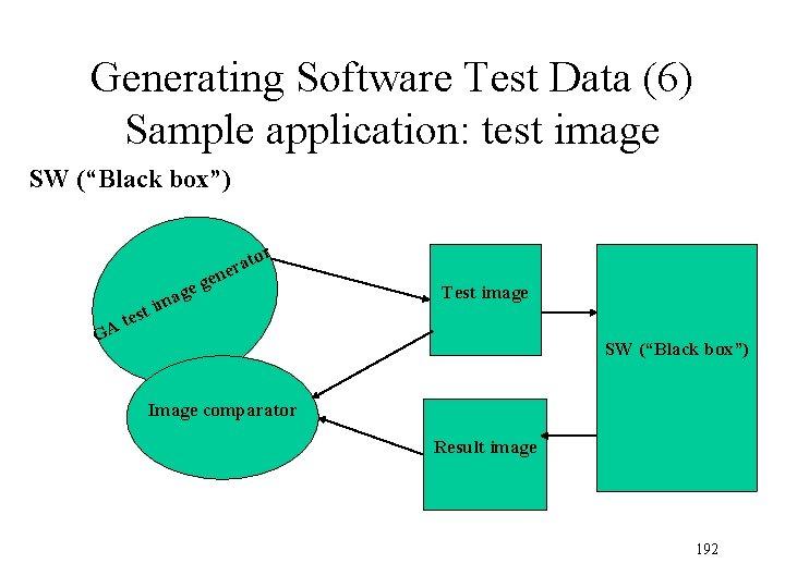 "Generating Software Test Data (6) Sample application: test image SW (""Black box"") tor a"