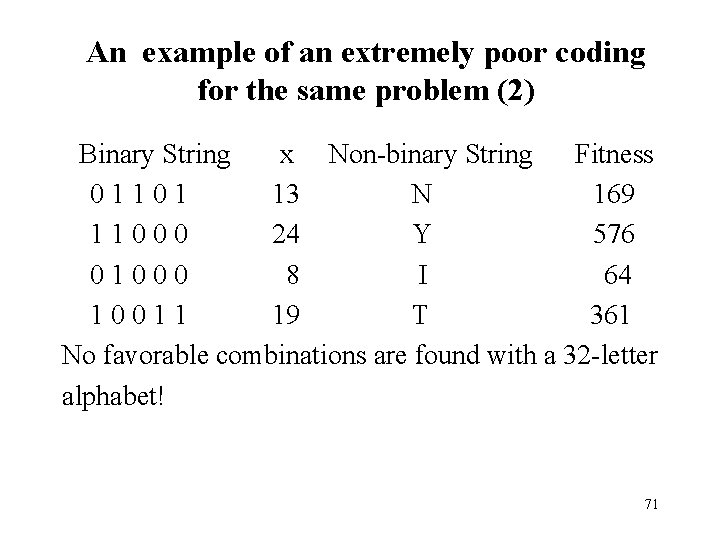 An example of an extremely poor coding for the same problem (2) Binary String