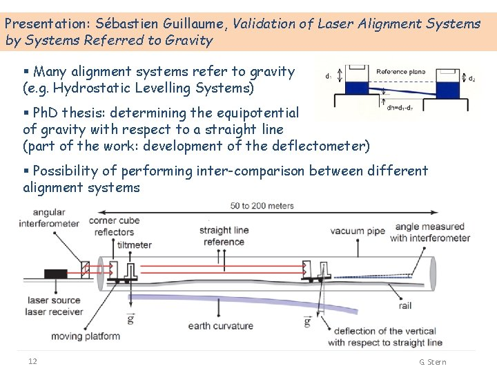 Presentation: Sébastien Guillaume, Validation of Laser Alignment Systems by Systems Referred to Gravity §