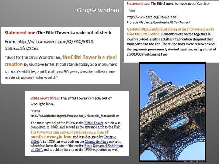 Google wisdom: