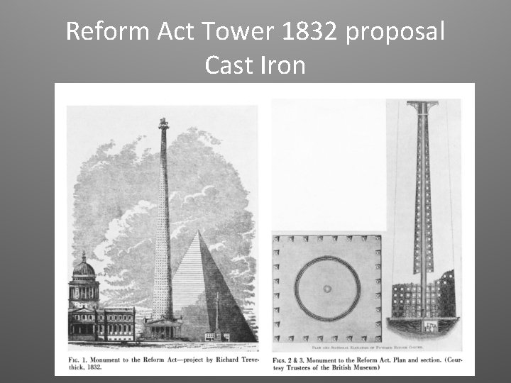 Reform Act Tower 1832 proposal Cast Iron
