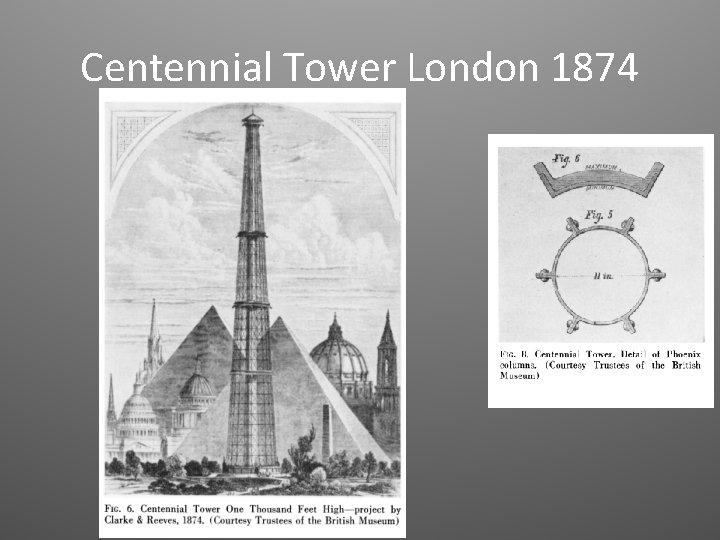 Centennial Tower London 1874