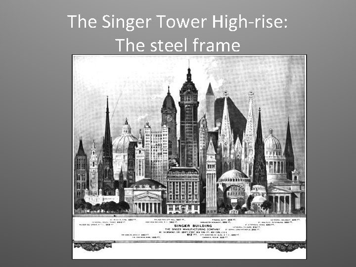 The Singer Tower High-rise: The steel frame