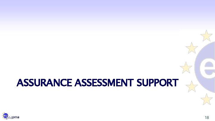 ASSURANCE ASSESSMENT SUPPORT 18