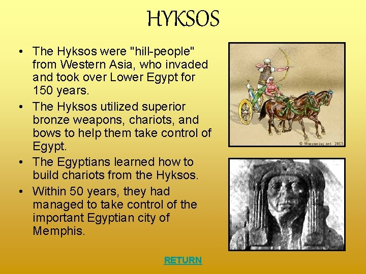 """HYKSOS • The Hyksos were """"hill-people"""" from Western Asia, who invaded and took over"""