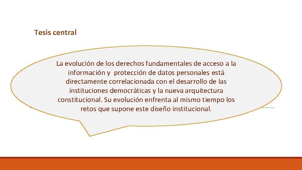 Tesis central La evolución de los derechos fundamentales de acceso a la información y