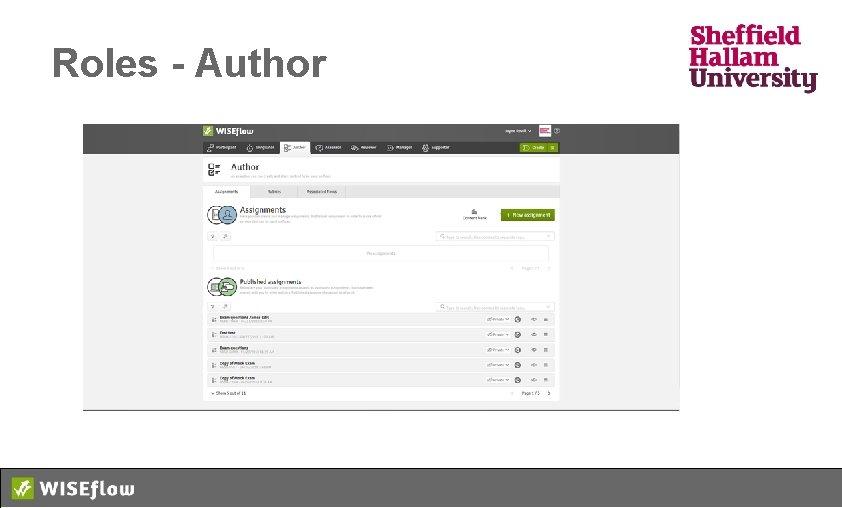 Roles - Author