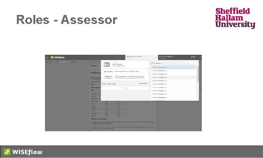 Roles - Assessor