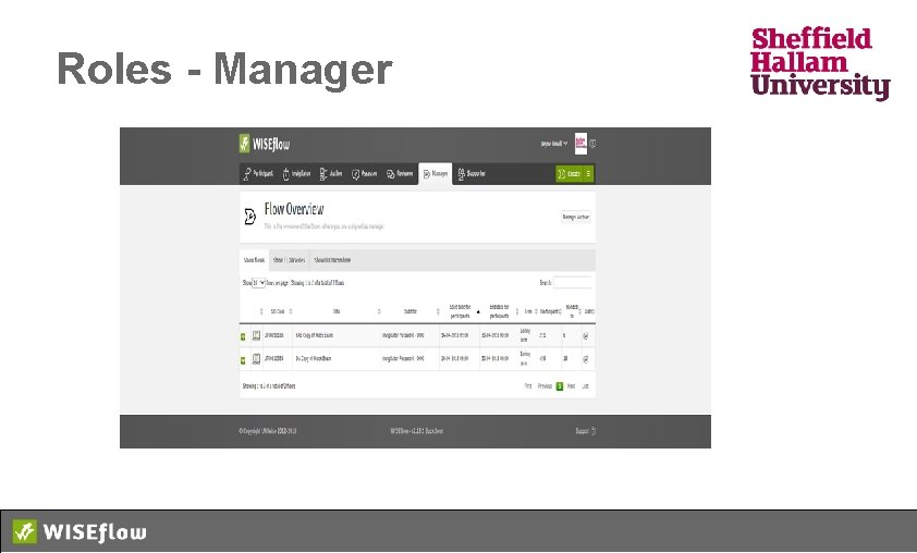 Roles - Manager