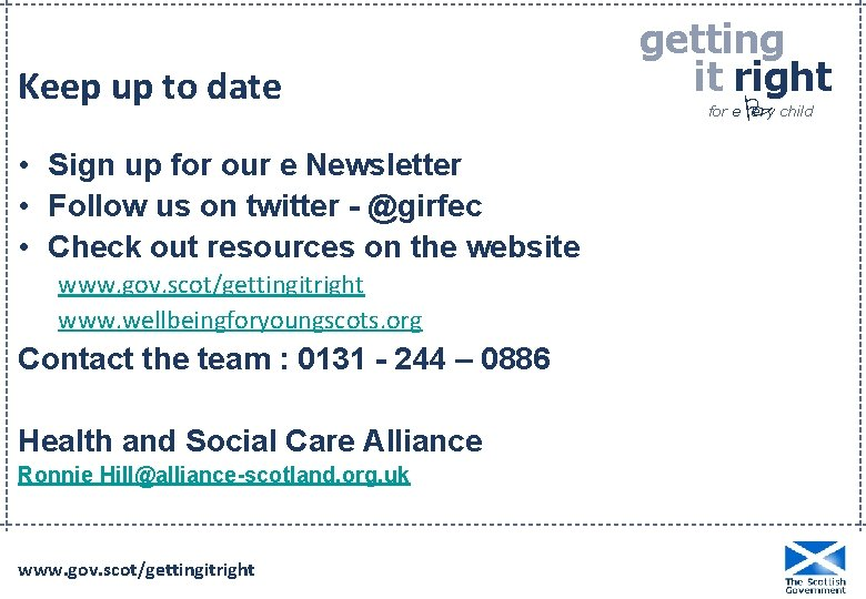 Keep up to date • Sign up for our e Newsletter • Follow us
