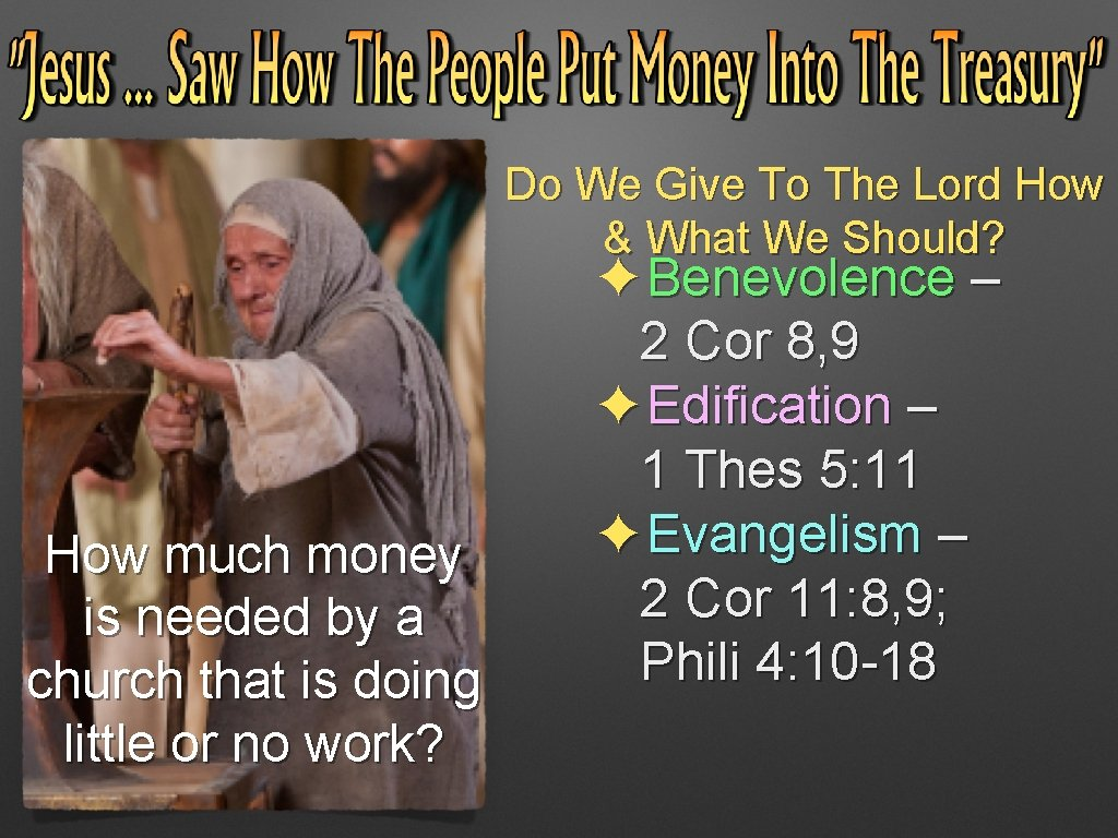 Do We Give To The Lord How & What We Should? How much money