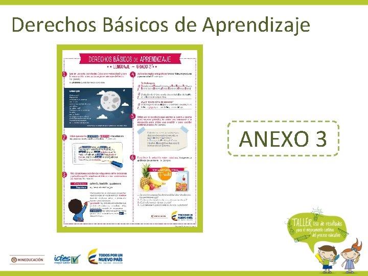 Derechos Básicos de Aprendizaje ANEXO 3