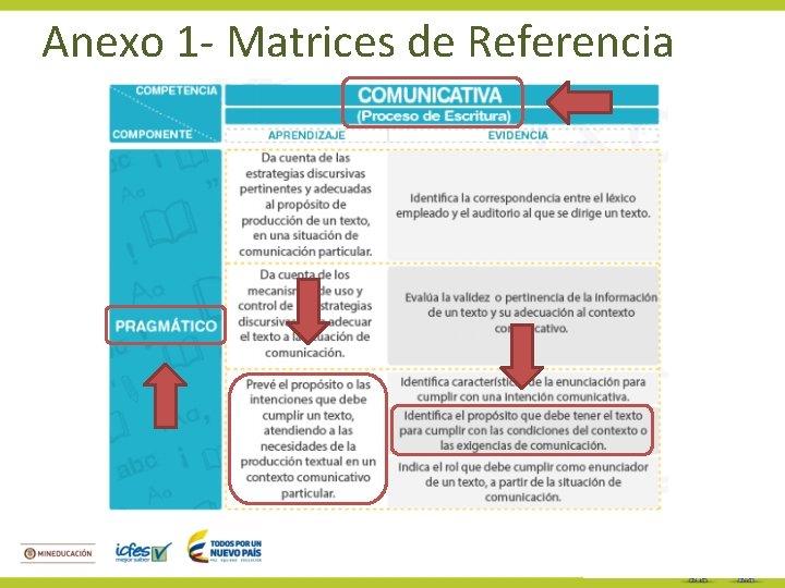 Anexo 1 - Matrices de Referencia