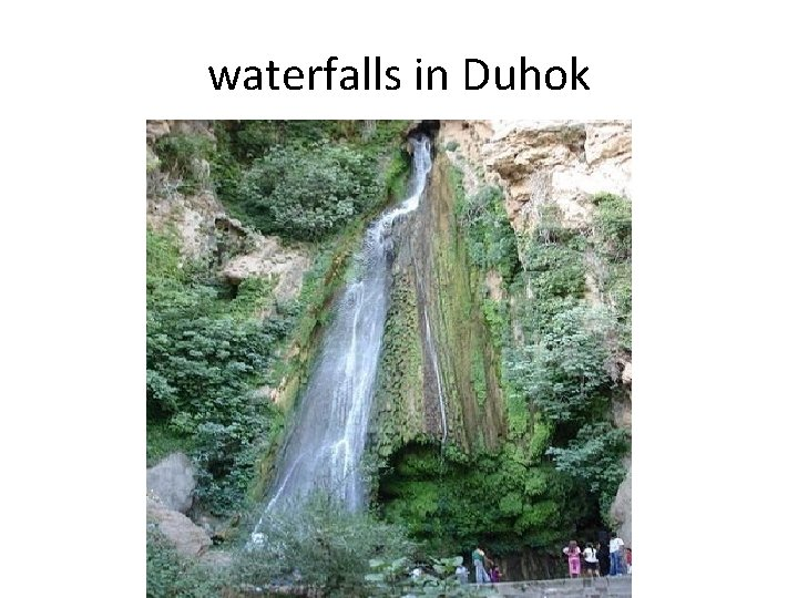 waterfalls in Duhok