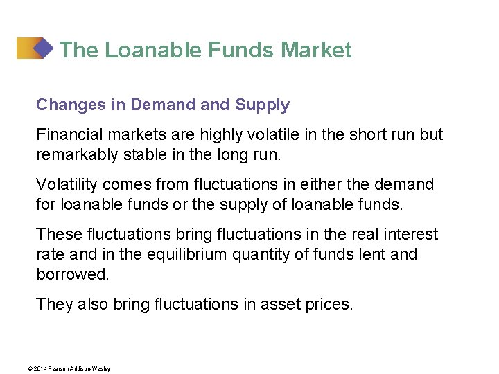 The Loanable Funds Market Changes in Demand Supply Financial markets are highly volatile in