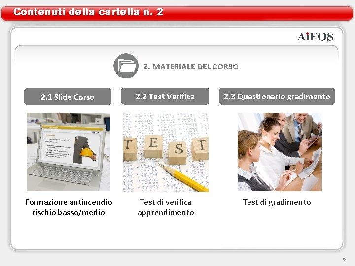 Contenuti della cartella n. 2 2. MATERIALE DEL CORSO 2. 1 Slide Corso 2.