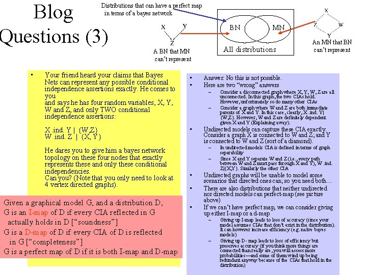 Blog Questions (3) Distributions that can have a perfect map in terms of a