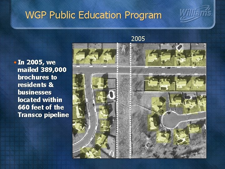 WGP Public Education Program 2005 • In 2005, we mailed 389, 000 brochures to