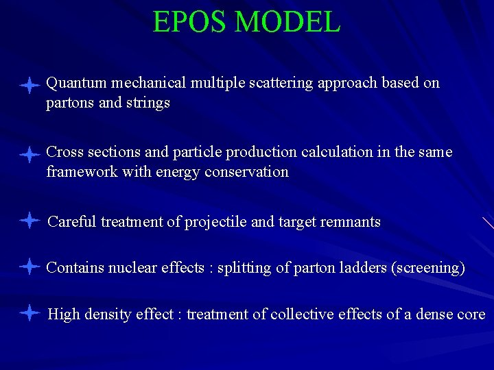 EPOS MODEL Quantum mechanical multiple scattering approach based on partons and strings Cross sections