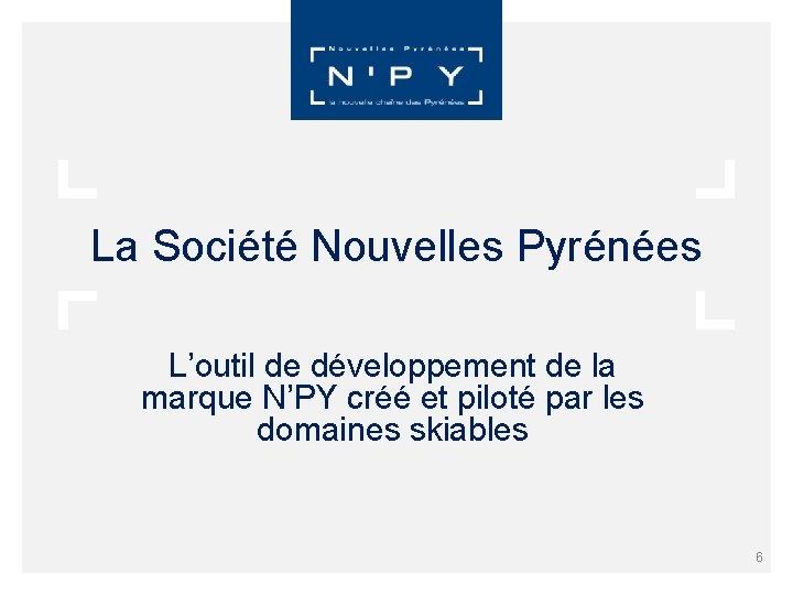 La Société Nouvelles Pyrénées L'outil de développement de la marque N'PY créé et piloté