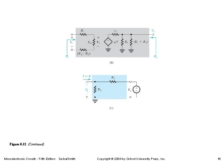 Figure 8. 12 (Continued) Microelectronic Circuits - Fifth Edition Sedra/Smith Copyright 2004 by Oxford