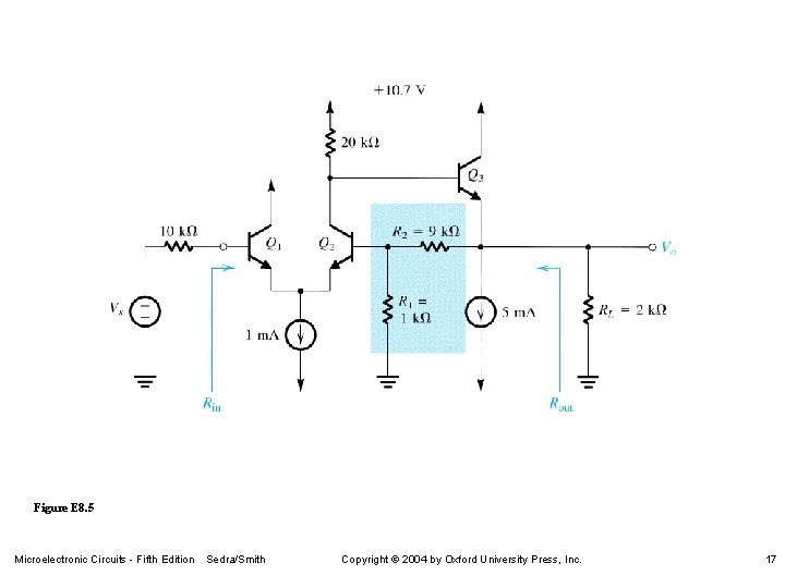 Figure E 8. 5 Microelectronic Circuits - Fifth Edition Sedra/Smith Copyright 2004 by Oxford