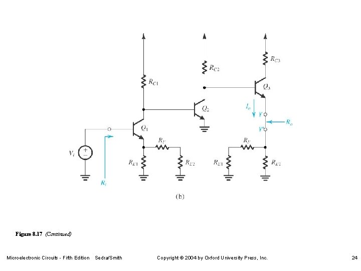 Figure 8. 17 (Continued) Microelectronic Circuits - Fifth Edition Sedra/Smith Copyright 2004 by Oxford