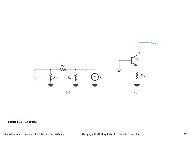 Figure 8. 17 (Continued). Microelectronic Circuits - Fifth Edition Sedra/Smith Copyright 2004 by Oxford