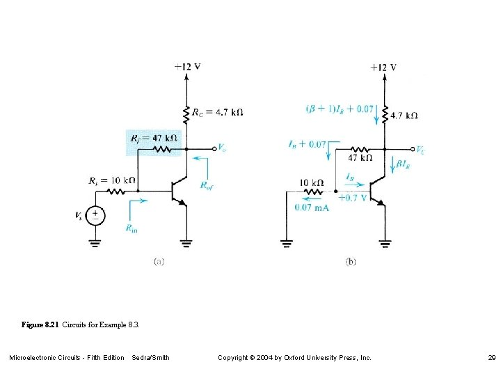 Figure 8. 21 Circuits for Example 8. 3. Microelectronic Circuits - Fifth Edition Sedra/Smith