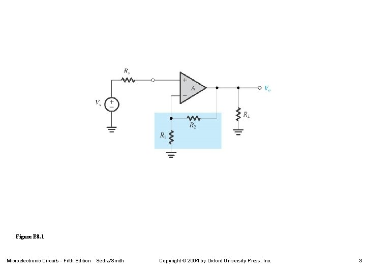 Figure E 8. 1 Microelectronic Circuits - Fifth Edition Sedra/Smith Copyright 2004 by Oxford