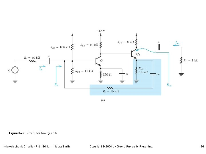 Figure 8. 25 Circuits for Example 8. 4. Microelectronic Circuits - Fifth Edition Sedra/Smith