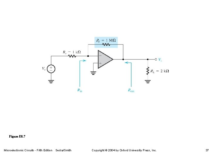 Figure E 8. 7 Microelectronic Circuits - Fifth Edition Sedra/Smith Copyright 2004 by Oxford