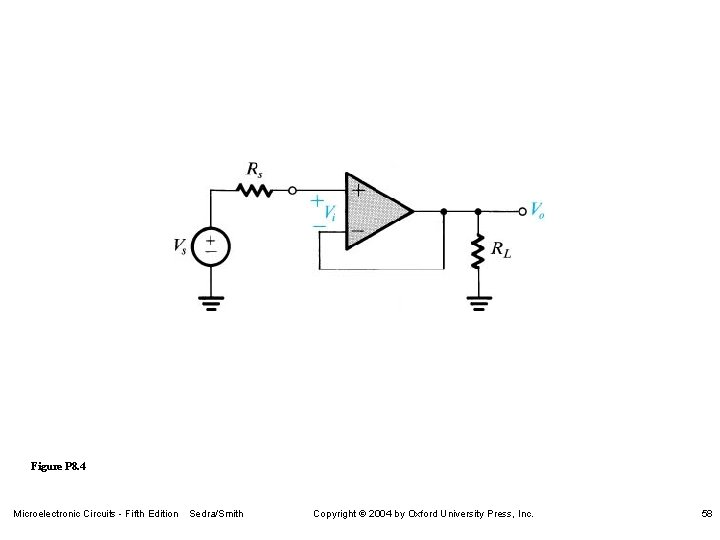 Figure P 8. 4 Microelectronic Circuits - Fifth Edition Sedra/Smith Copyright 2004 by Oxford