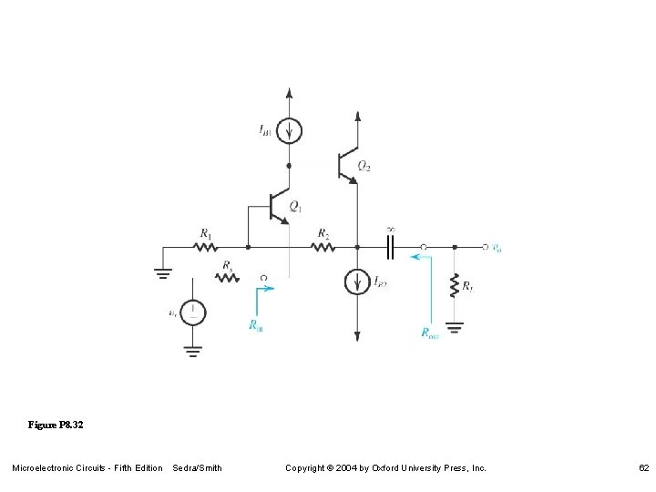 Figure P 8. 32 Microelectronic Circuits - Fifth Edition Sedra/Smith Copyright 2004 by Oxford