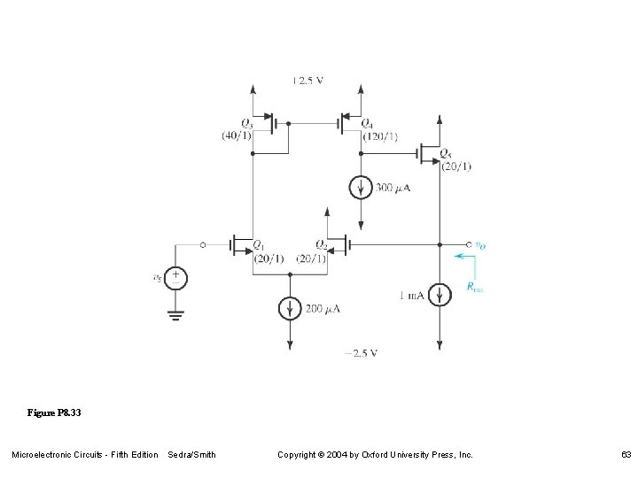 Figure P 8. 33 Microelectronic Circuits - Fifth Edition Sedra/Smith Copyright 2004 by Oxford