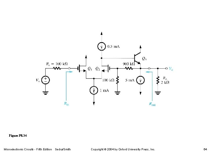 Figure P 8. 34 Microelectronic Circuits - Fifth Edition Sedra/Smith Copyright 2004 by Oxford