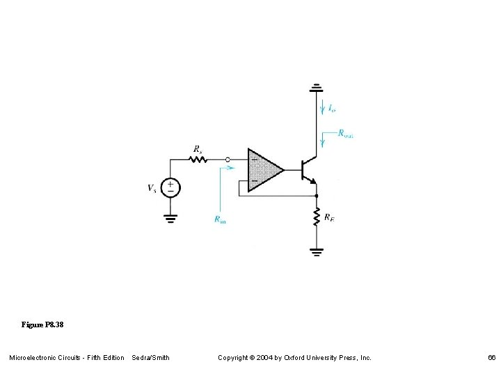 Figure P 8. 38 Microelectronic Circuits - Fifth Edition Sedra/Smith Copyright 2004 by Oxford