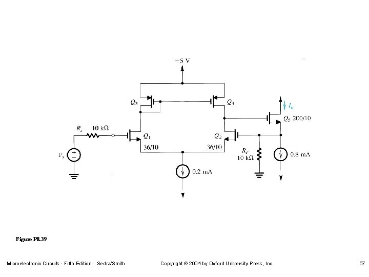 Figure P 8. 39 Microelectronic Circuits - Fifth Edition Sedra/Smith Copyright 2004 by Oxford