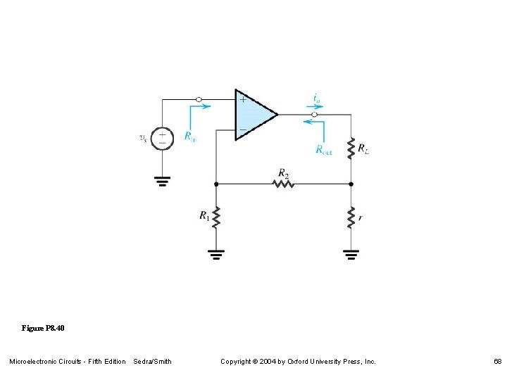 Figure P 8. 40 Microelectronic Circuits - Fifth Edition Sedra/Smith Copyright 2004 by Oxford