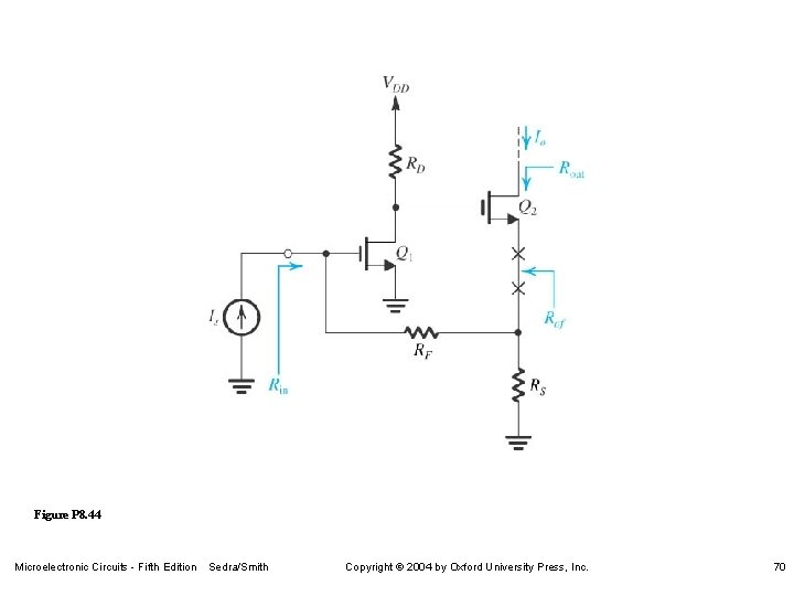 Figure P 8. 44 Microelectronic Circuits - Fifth Edition Sedra/Smith Copyright 2004 by Oxford