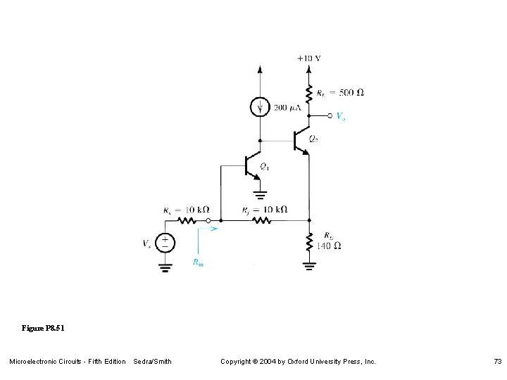 Figure P 8. 51 Microelectronic Circuits - Fifth Edition Sedra/Smith Copyright 2004 by Oxford