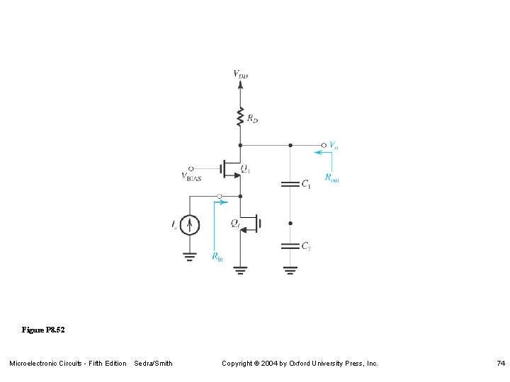 Figure P 8. 52 Microelectronic Circuits - Fifth Edition Sedra/Smith Copyright 2004 by Oxford