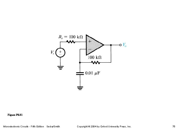 Figure P 8. 81 Microelectronic Circuits - Fifth Edition Sedra/Smith Copyright 2004 by Oxford