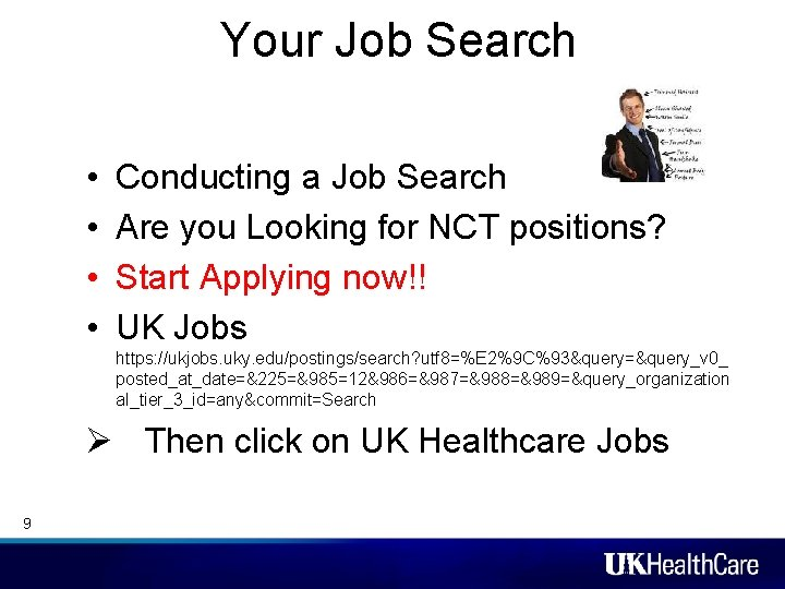 Your Job Search • • Conducting a Job Search Are you Looking for NCT