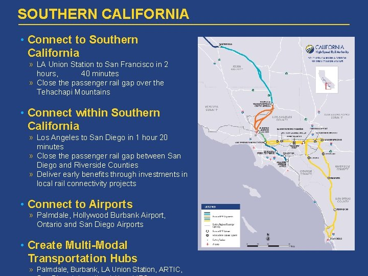 SOUTHERN CALIFORNIA • Connect to Southern California » LA Union Station to San Francisco