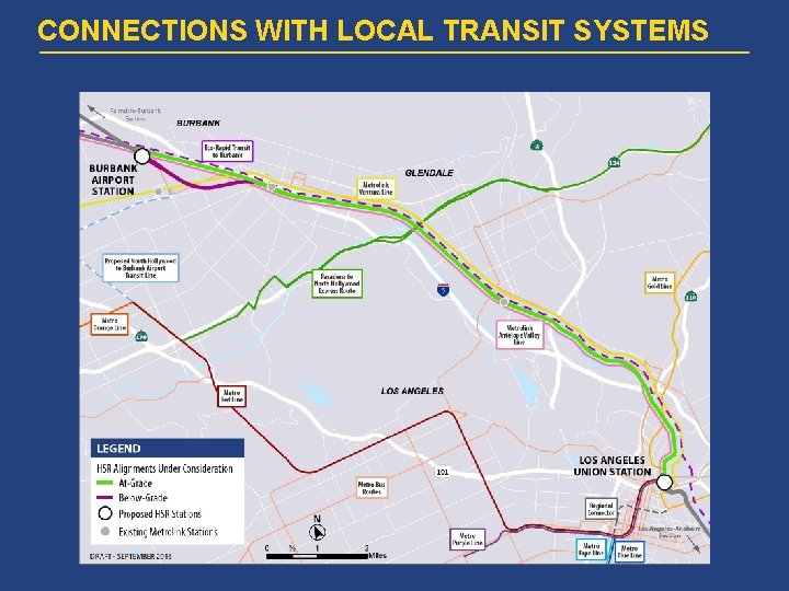 CONNECTIONS WITH LOCAL TRANSIT SYSTEMS