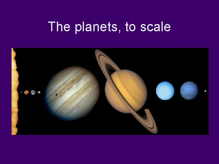 The planets, to scale