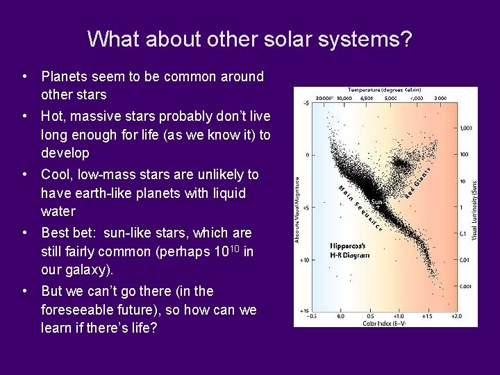 What about other solar systems? • Planets seem to be common around other stars